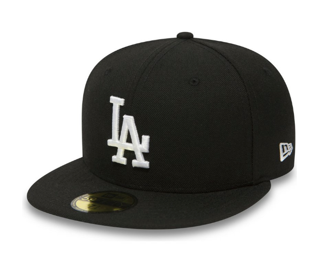 NEW ERA - 59FIFTY LOS ANGELES DODGERS FITTED HAT (BLACK)