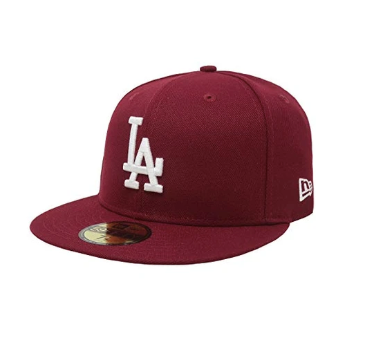 NEW ERA - 59FIFTY LOS ANGELES DODGERS FITTED HAT (BURGUNDY)