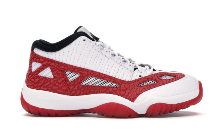 AIR JORDAN RETRO 11 LOW IE - WHITE GYM RED