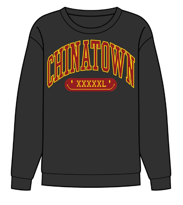 CHINATOWN MARKET - GYM ARC CREWNECK (BLACK)