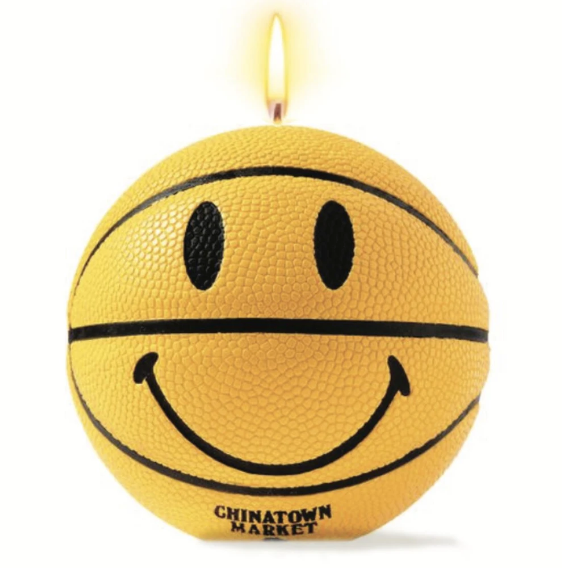 CHINATOWN MARKET - SMILEY MINI BASKETBALL CANDLE (YELLOW)