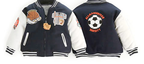 UP AND AWAY - 5-PATCH LETTERMAN JACKET