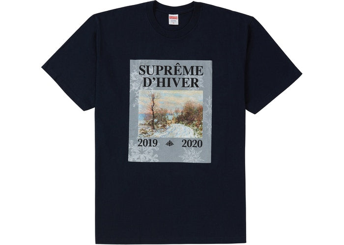 SUPREME - D'HIVER TEE ( NAVY )