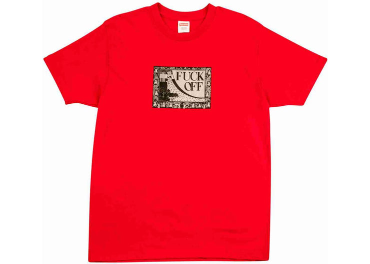 SUPREME - FUCK OFF TEE (RED)