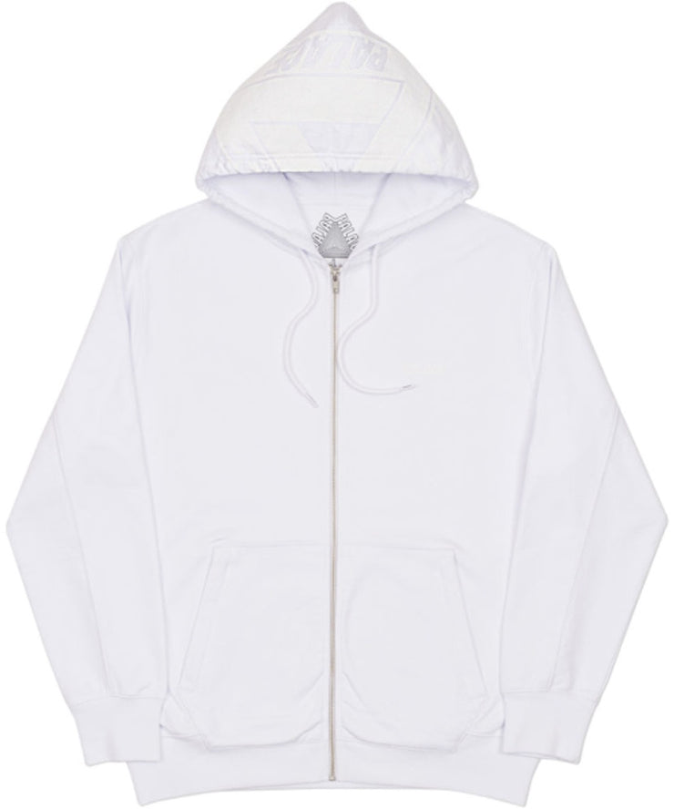 PALACE - BIG TRI-FERG ZIP UP HOODED SWEATSHIRT (WHITE)