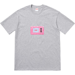 SUPREME - TV TEE (HEATHER GREY)