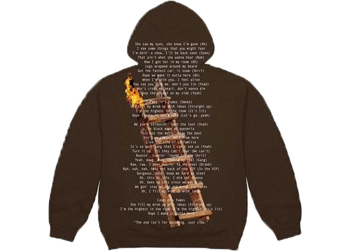 TRAVIS SCOTT - HIGHEST IN THE ROOM NOT FOR DECODING HOODIE (BROWN)