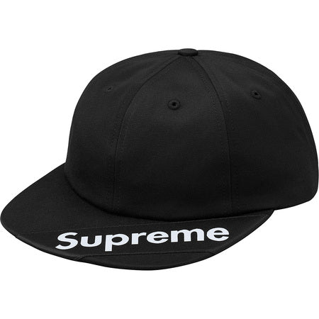 SUPREME - VISOR LABEL 6-PANEL (BLACK)