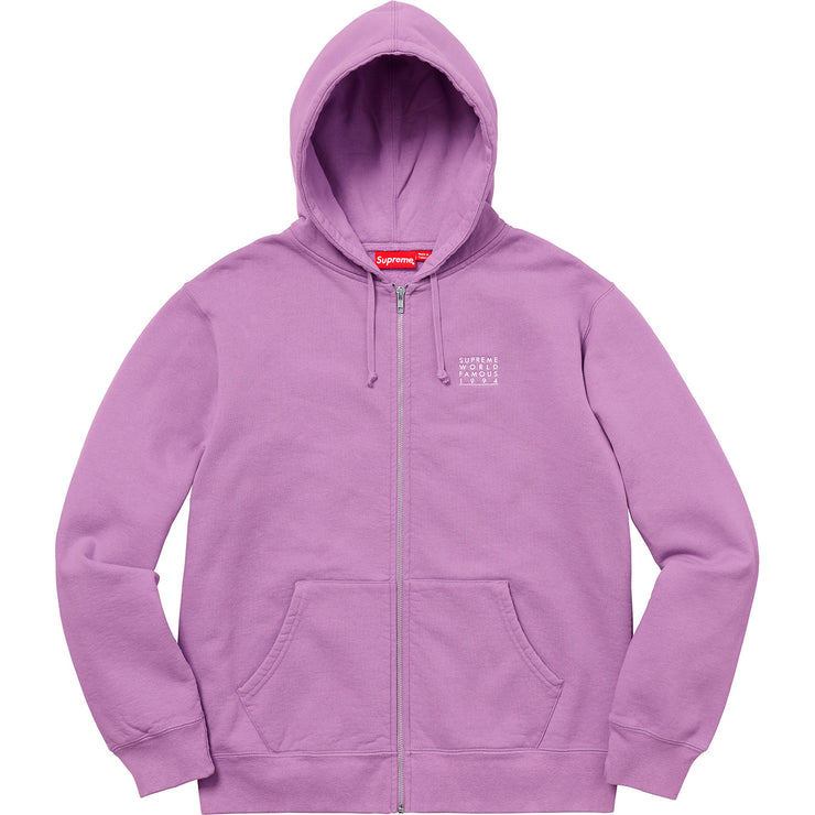 SUPREME - WORLD FAMOUS ZIP UP HOODED SWEATSHIRT (VIOLET)