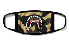 BAPE - 1ST CAMO SHARK MASK (YELLOW)
