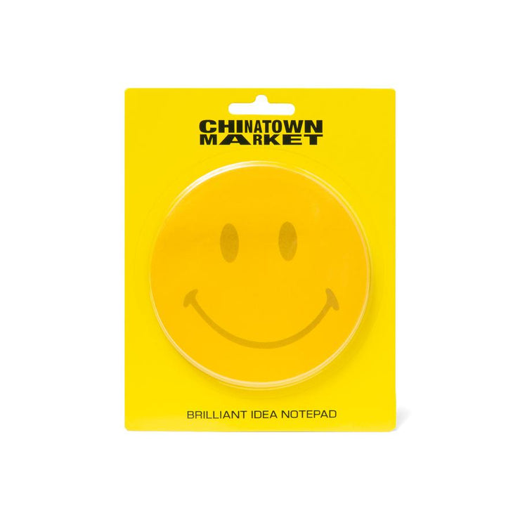 CHINATOWN MARKET - SMILEY POST IT NOTE PAD (YELLOW)