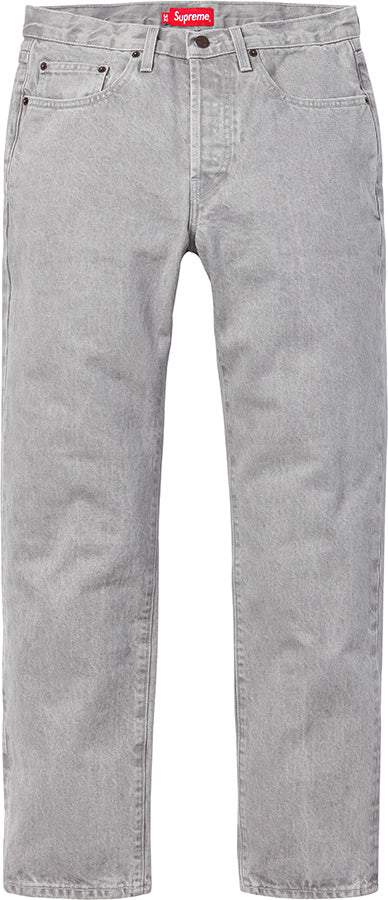 SUPREME/LEVI'S - WASHED GREY SLIM JEANS