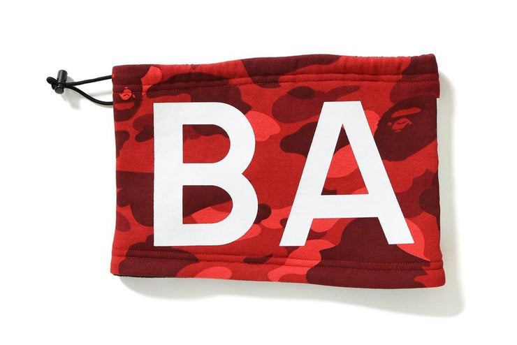 BAPE - 1ST CAMO NECK WARMER (RED)