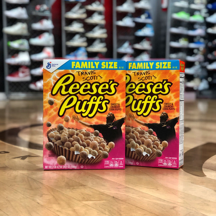 TRAVIS SCOTT/REESE'S PUFFS - CEREAL BOX (FAMILY SIZE)