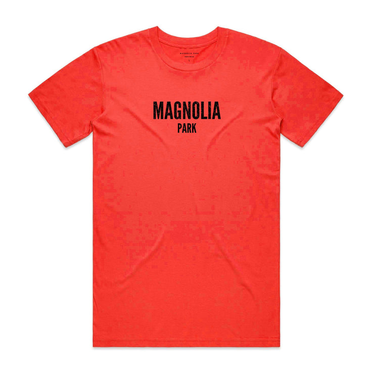 MAGNOLIA PARK - DESOLATE TEE (NEON RED)