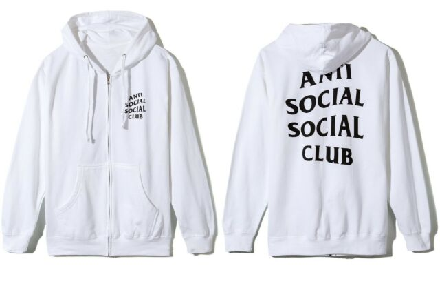 ANTI SOCIAL SOCIAL CLUB - MASOCHISM ZIP UP HOODIE (WHITE)