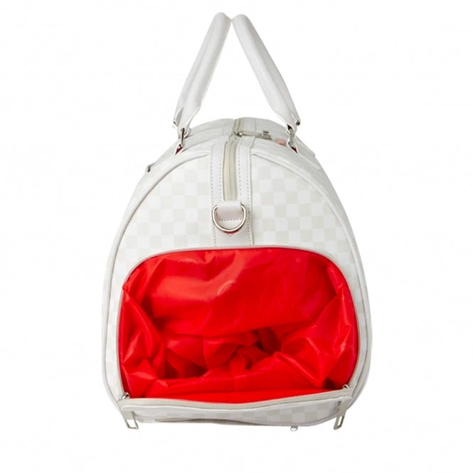 SPRAYGROUND - SHARKS IN PARIS: MEAN & CLEAN DUFFLE (WHITE)
