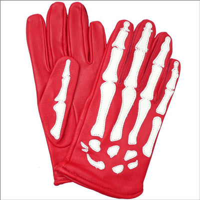 SUPREME/VANSON - LEATHER X RAY GLOVES (RED)