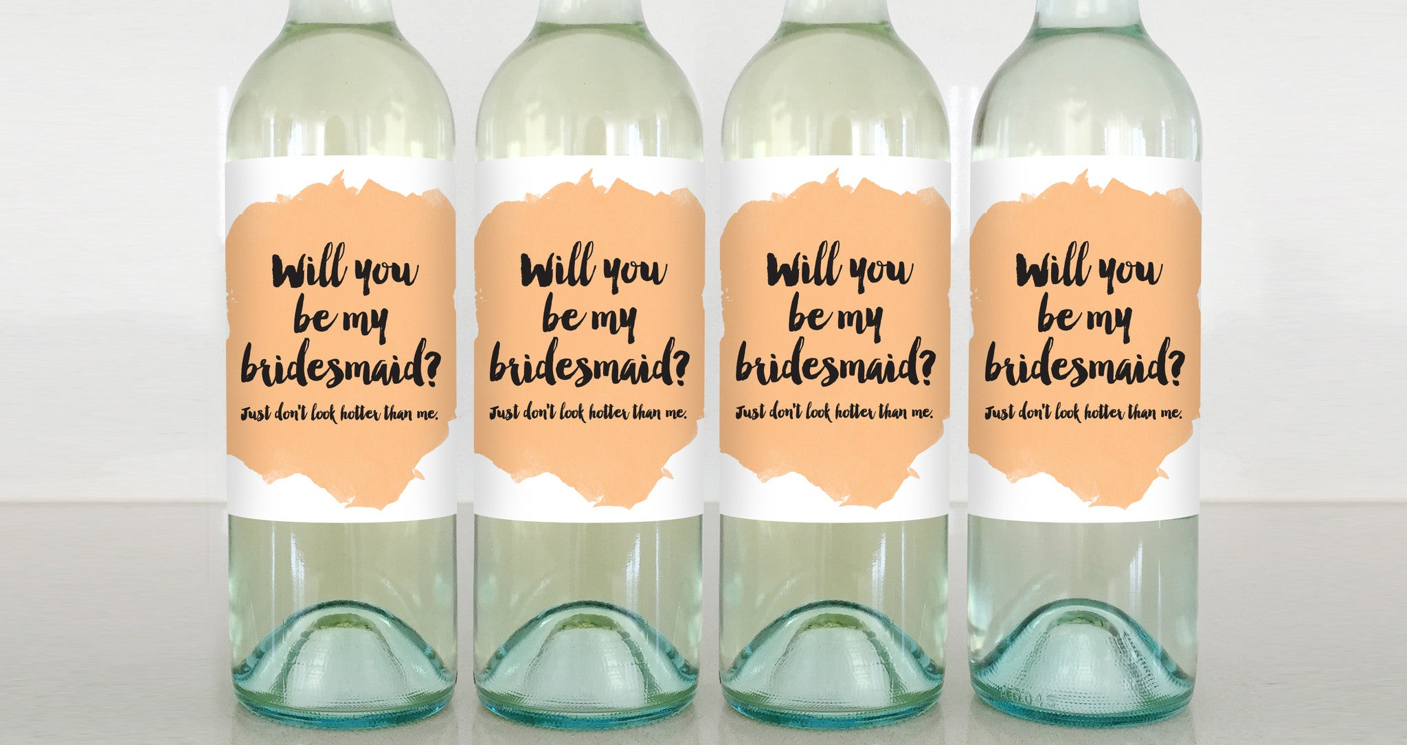 bridesmaid wine label greeting card delicate estates party favor wedding