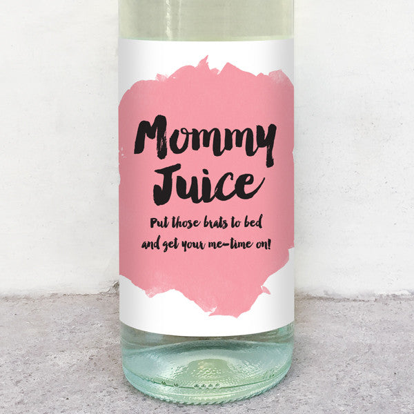 Mommy Juice wine label greeting card delicate estates