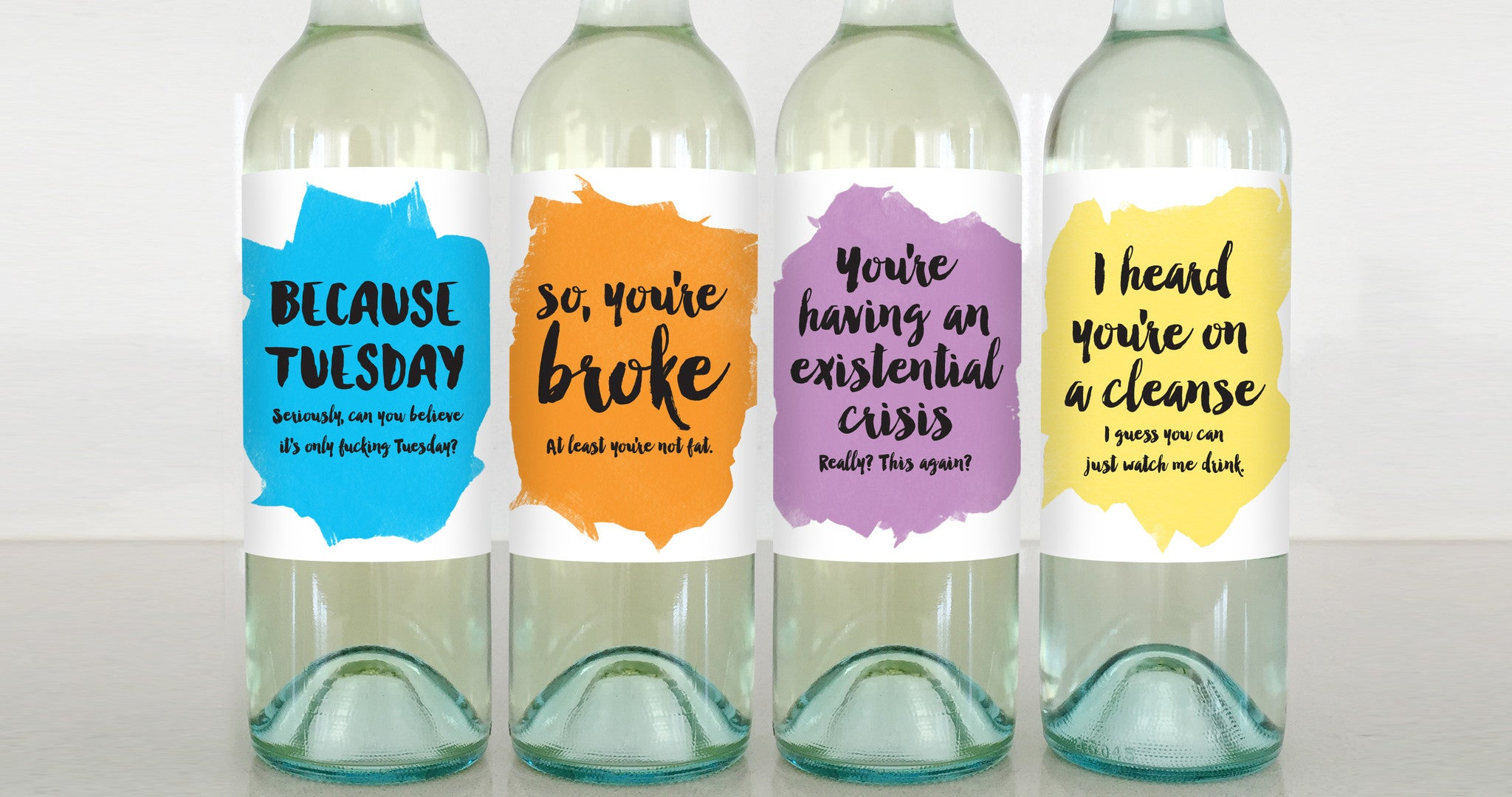 calm relax funny sarcastic wine label greeting card delicate estates