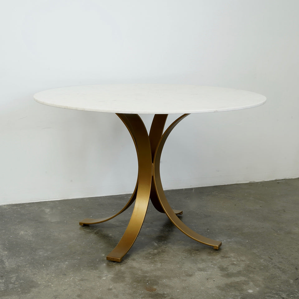 Adan Marble & Iron Dining Table - 122 X 122 X 76cm /