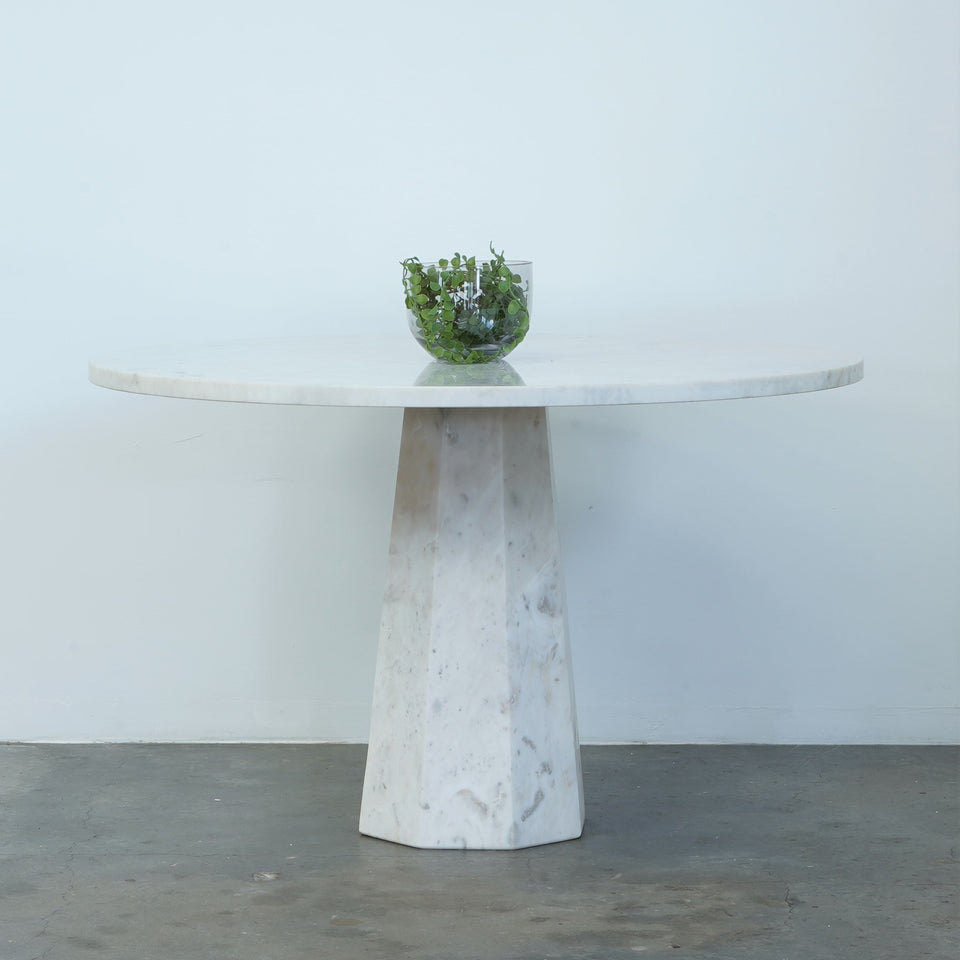 Anouk Marble Dining Table - 122 X 122 X 76cm / White -