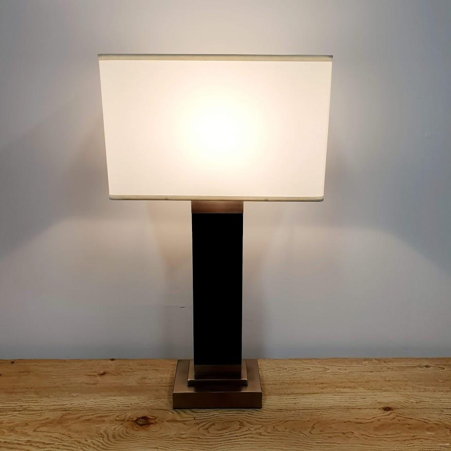 Beaucoup Timber and Nickel Table Lamp