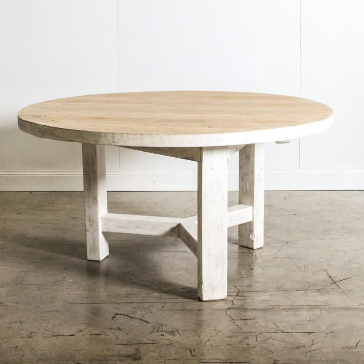 Bella Round Dining Table - 76 X 152 X 152cm / White - Dining