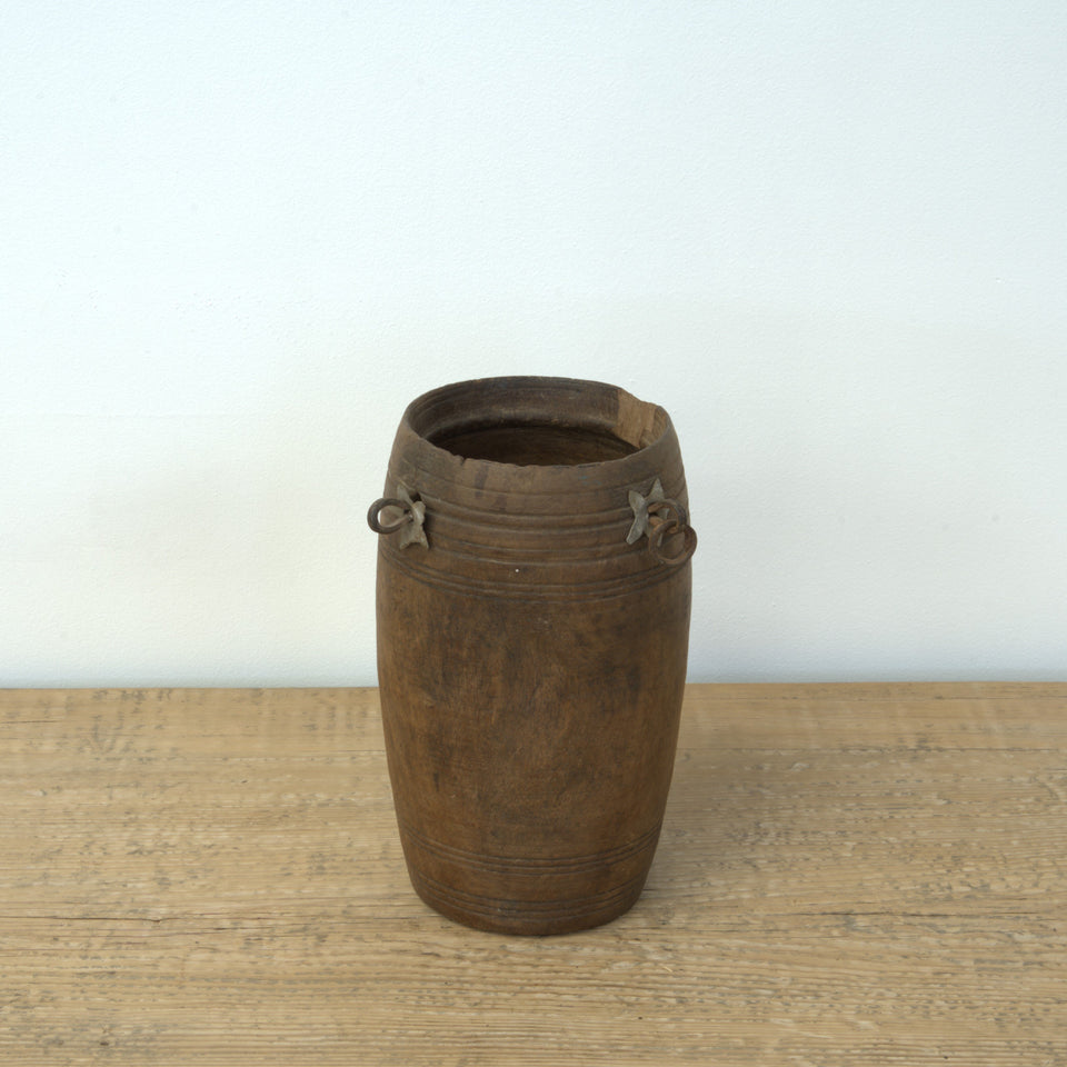 Bhavna Indian Wooden Pot - Pot B / Brown - Pots