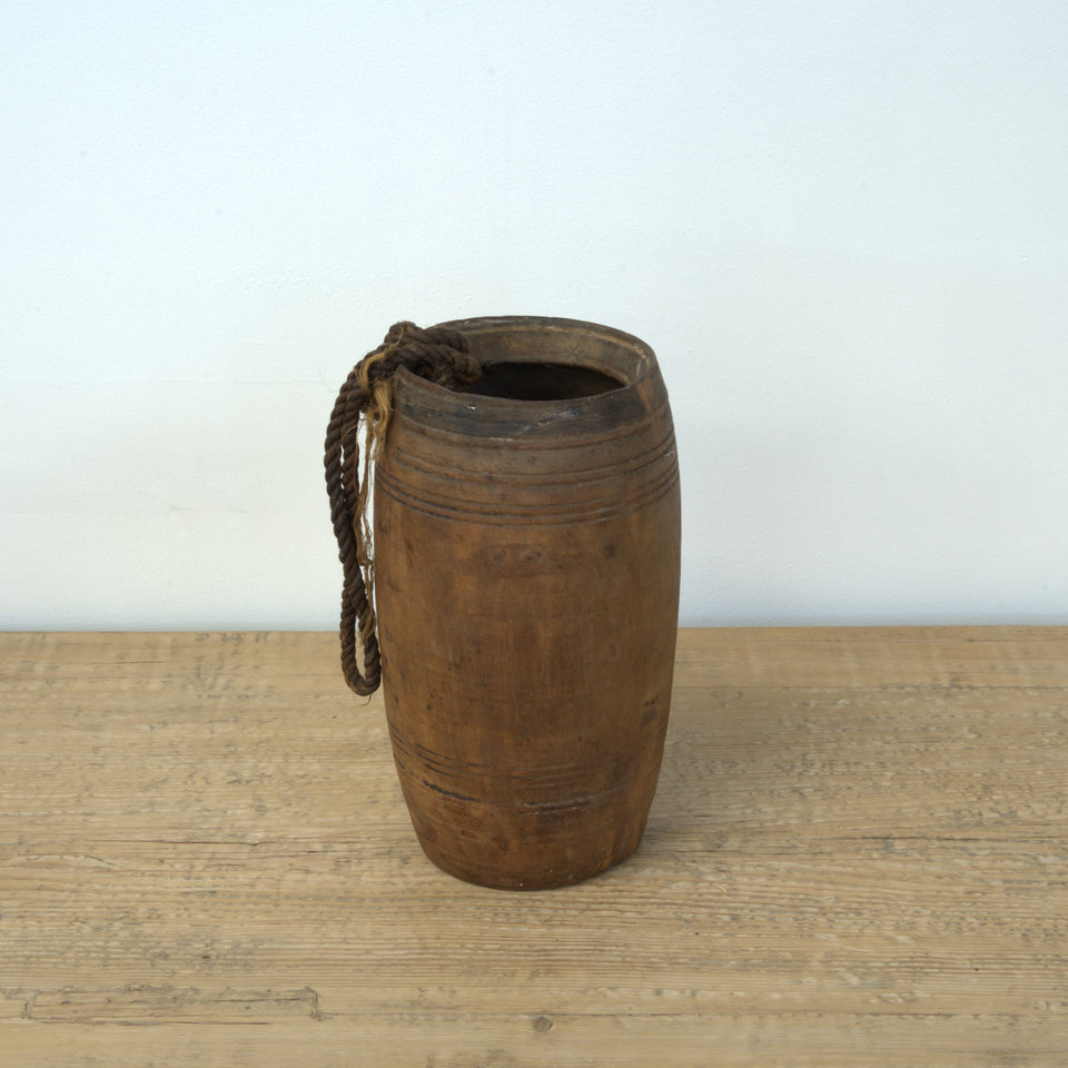 Bhavna Indian Wooden Pot - Pot C / Brown - Pots