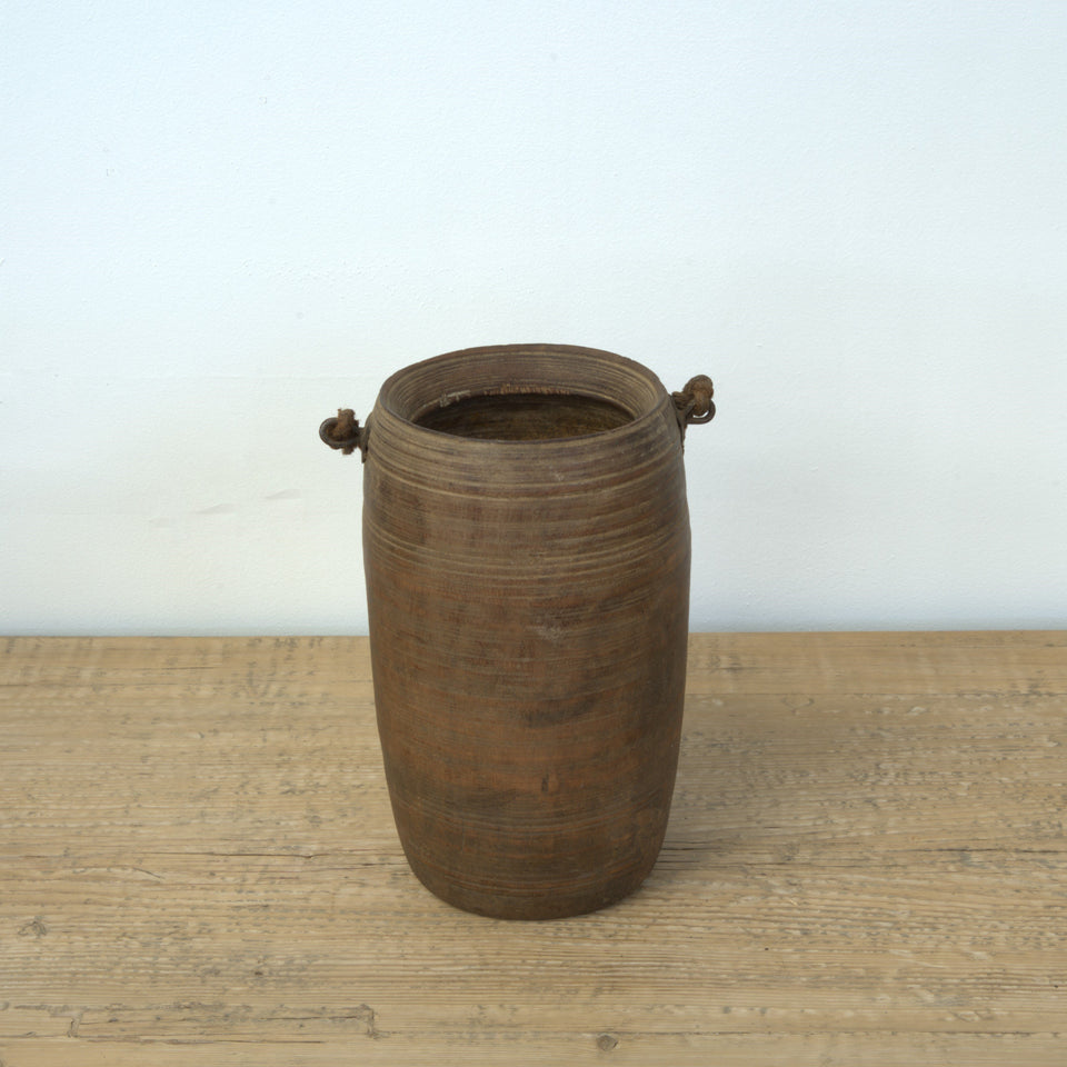 Bhavna Indian Wooden Pot - Pot D / Brown - Pots