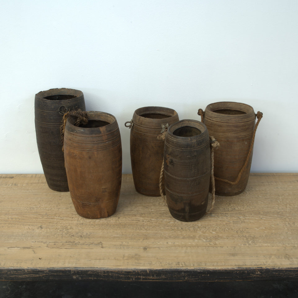 Bhavna Indian Wooden Pot - Pots