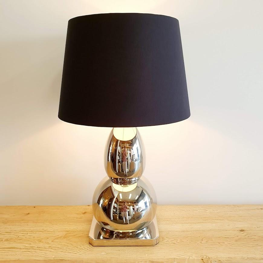 Calabasse Nickel Table Lamp