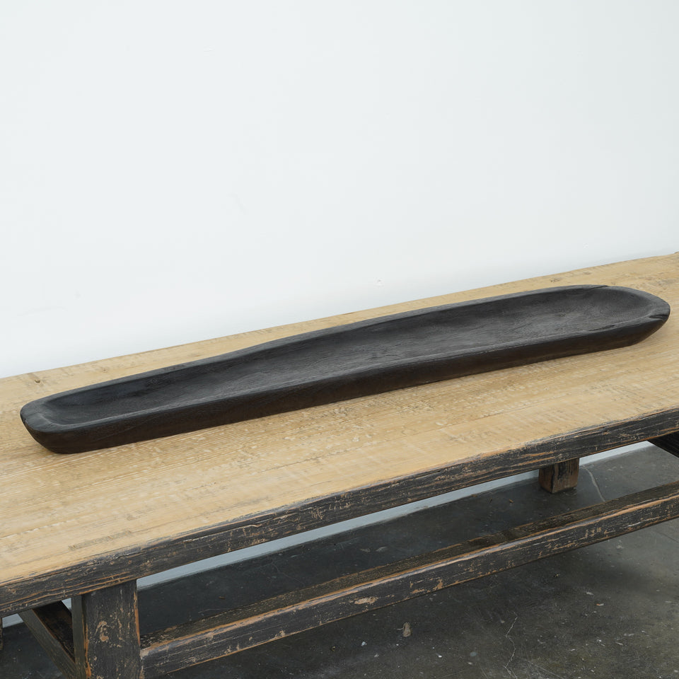 Casa Suar Wood Tray - 100 X 22 X 5cm / Black - Trays