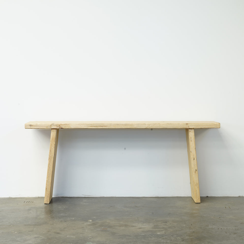 Cassia Recycled Pine Console Table - 183 X 38 X 76cm /