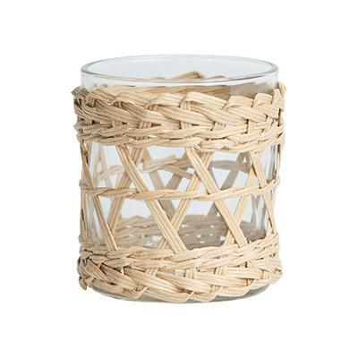 Chloe Rattan Candleholder - Candle Holder