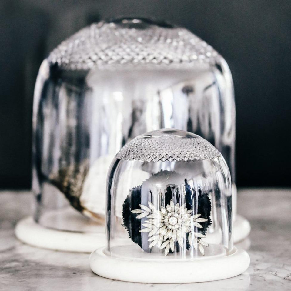 Crystal Dome With Marble Base - Decor