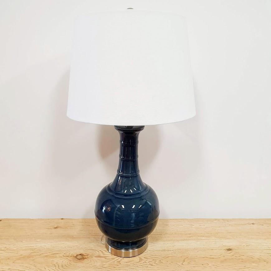 Den Blue Glass Lamp - 75cm - Table Lamps