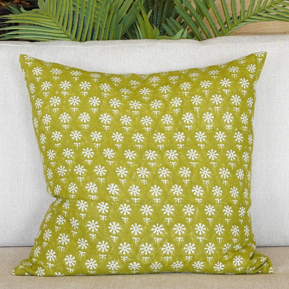 Ekiya French Linen Cushion - 50 X 50cm / Green - Indoor