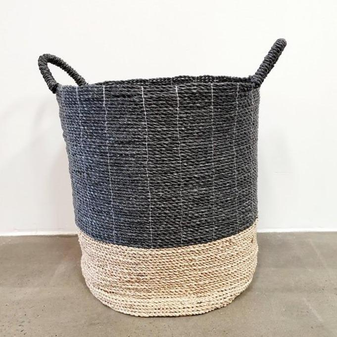 Gather Seagrass Basket - Extra Large / Black - Baskets