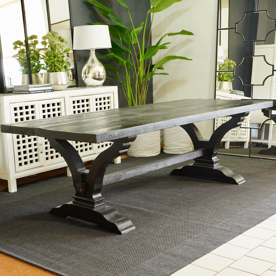 Havanna Poplar Table - 240 X 100 X 75cm / Black - Dining