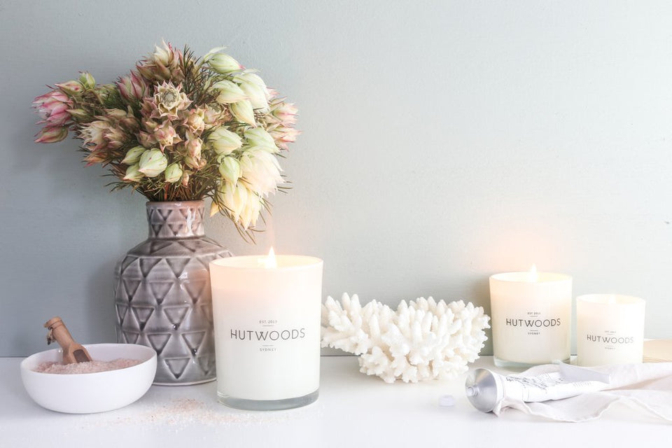 Hutwoods Nectarine & Mint Candle