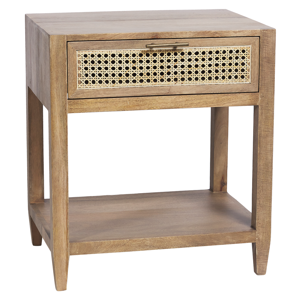 Joshua Bedside Table - 60 X 45 X 68.5cm / Natural - Side