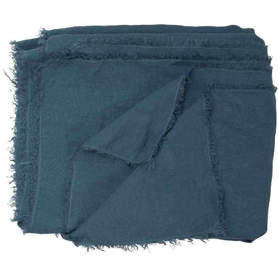 Livius Blue Azure Throw - 180 X 240cm / Blue Azure - Throws