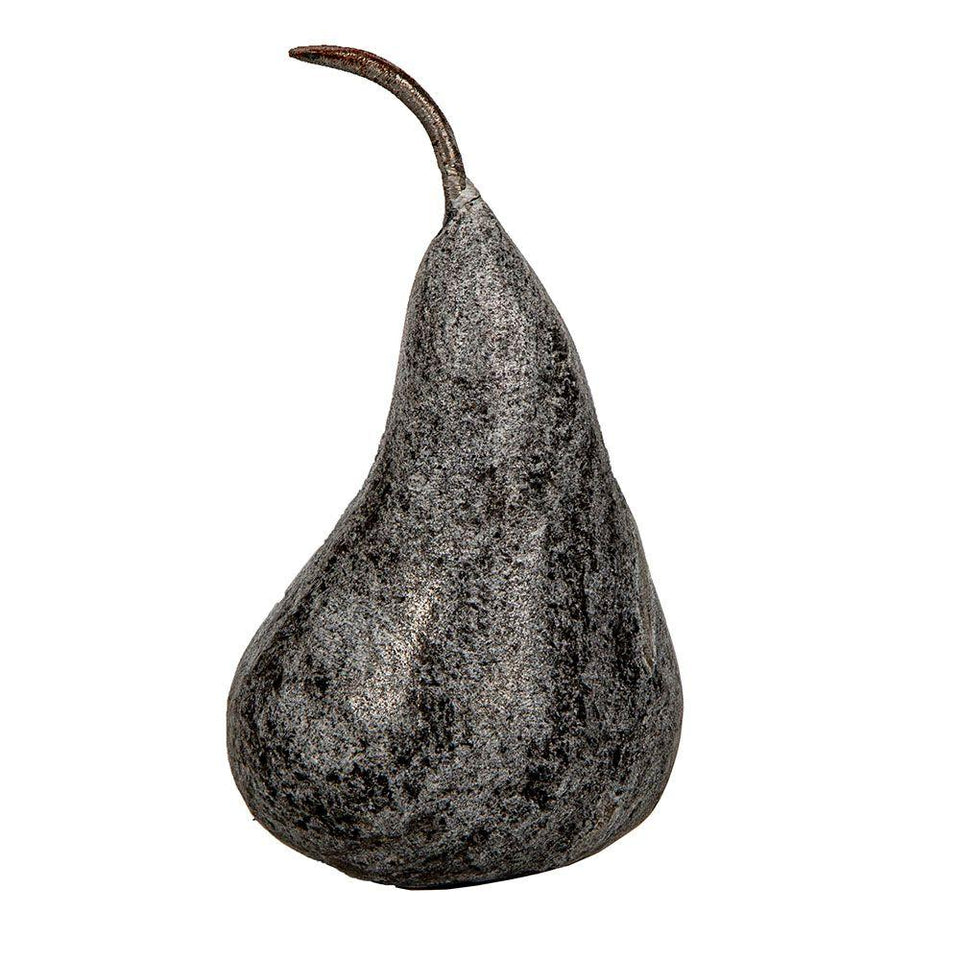 Marble Pear - 15cm / White - Decor