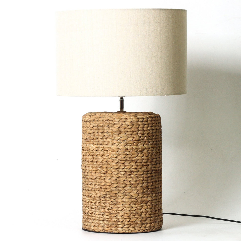 Milos Faux Ratt Lamp - 48cm h / Cream - Table Lamps