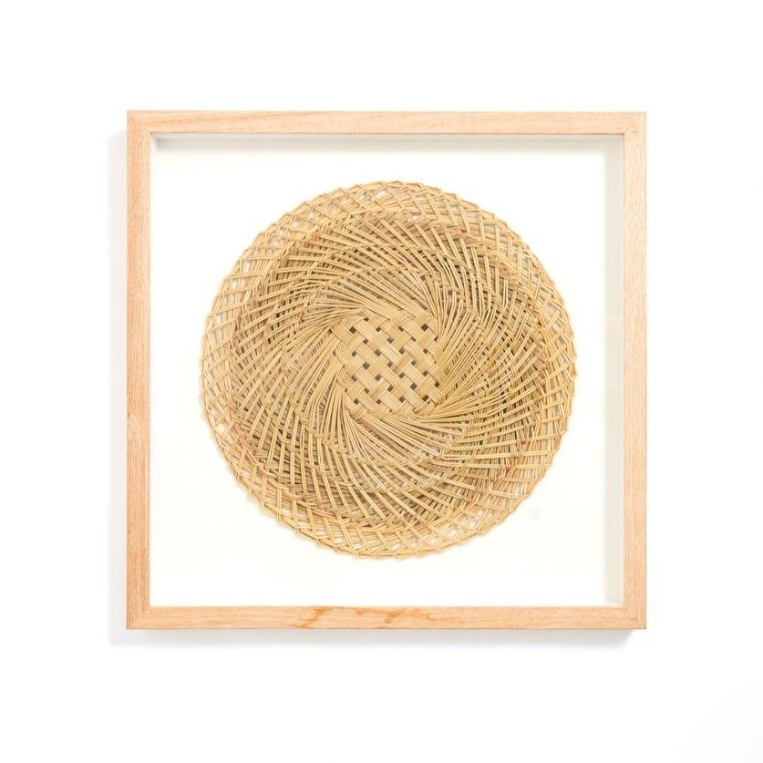 Mudik Woven Artwork - 50 X 50 X 4cm / Natural - Wall Art