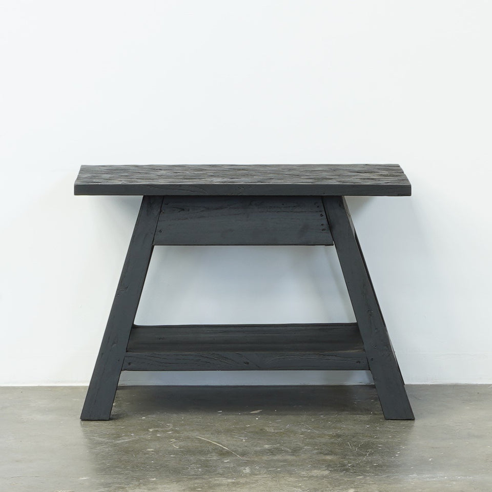 Otto Teak Rent Table - Black - Side Tables w Storage