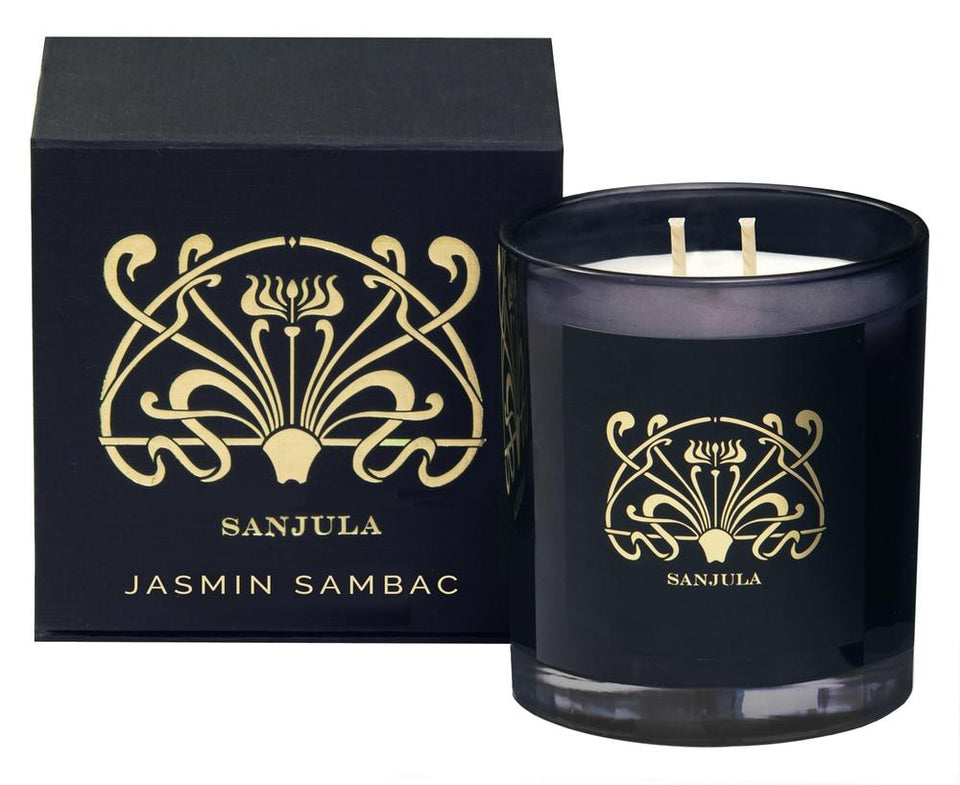 Sanjula Jasmine Sambac Candle - XL / Black - Candles